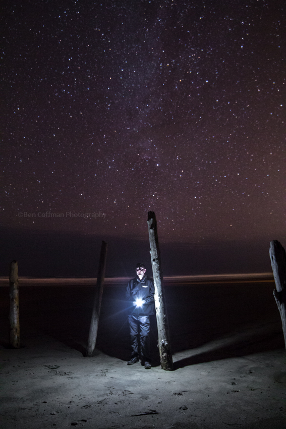 Creepy self portrait 1 of 11 Cannon Beach part 2 (now with the Milky Way!)