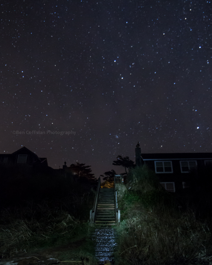 Stairway to the stars 1 of 11 Cannon Beach part 2 (now with the Milky Way!)