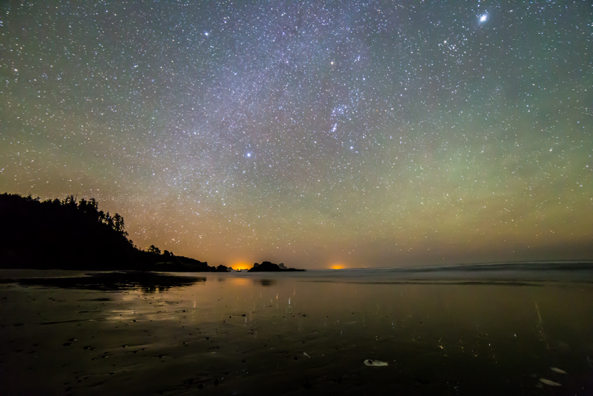 Indian Beach ISO 10000 1 of 11 Airglow at the Oregon coast