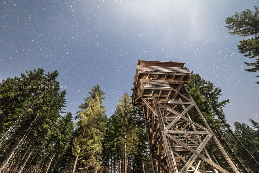 Lookout tower Tillamook Forest 1 of 11 Night photography 101: Focusing in the dark