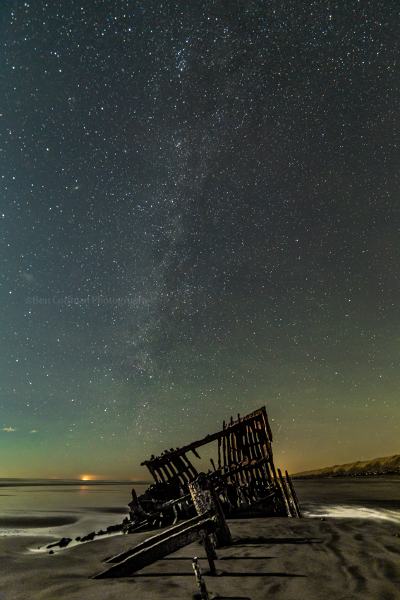 Peter Iredale with airglow 1 1 of 11 Airglow at the Oregon coast